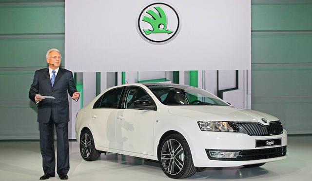 <strong>Volkswagen Group Night|フォルクスワーゲン グループ ナイト</strong><br />シュコダ オート AS CEO Winfried Vahland教授とシュコダ「ラピッド アンビション」