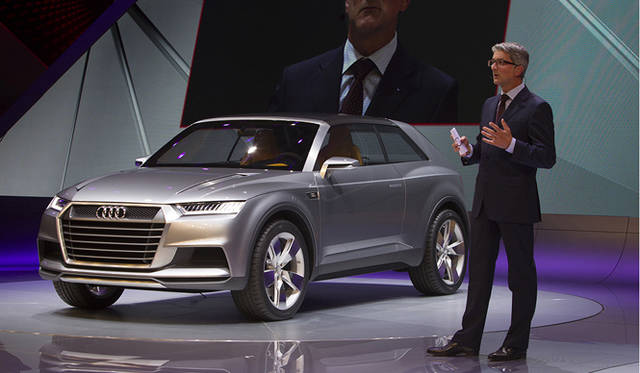 <strong>Audi crosslane coup&eacute;|アウディ クロスレーン クーペ</strong><br />アウディのチェアマン Rupert Stadler氏と