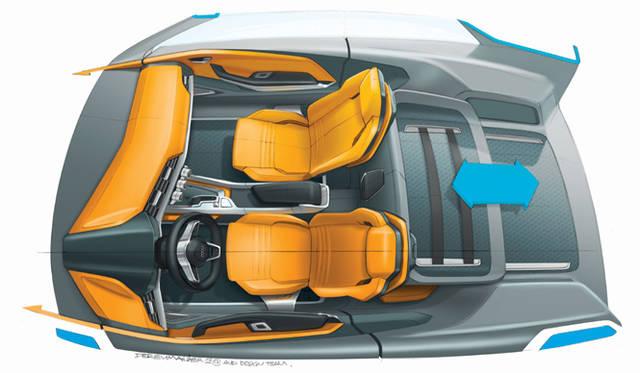 <strong>Audi crosslane coup&eacute;|アウディ クロスレーン クーペ</strong><br />トランクルームには、リヤシートの背部とともに電動で前後に動くカゴのようなものがある