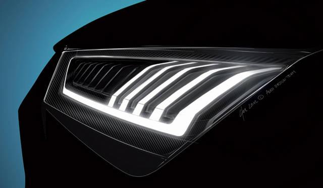 <strong>Audi crosslane coup&eacute;|アウディ クロスレーン クーペ</strong><br />ヘッドライトの意匠は これまでのアウディのものとはちがう