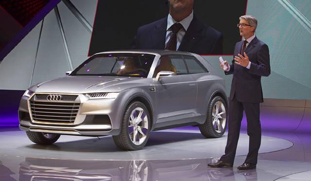 <strong>Audi crosslane coupe|アウディ クロスレーン クーペ</strong><br />発表会より アウディのチェアマン Rupert Stadler氏