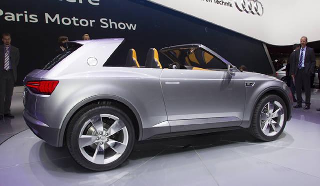 <strong>Audi crosslane coupe|アウディ クロスレーン クーペ</strong> ルーフは着脱可能で、外したルーフはトランクルームにおさまる