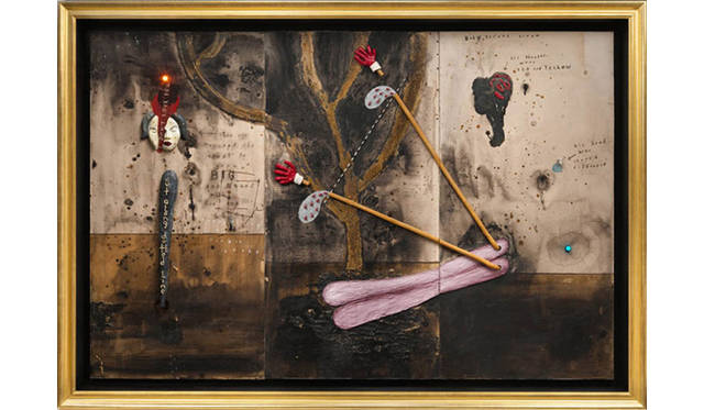 『BOB'S SECOND DREAM』2011年 mixed media on cardboard 182.88cm×274.32cm For all artwork: copyright David Lynch All photos were taken by Robert Wedemeyer.