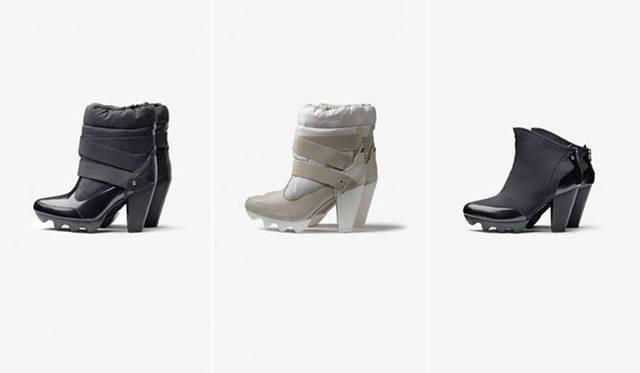 「adidas SLVR」2012-13年秋冬コレクション 左/SLVR SNOW BOOT HEEL 2万2995円、中/SLVR SNOW BOOT HEEL 2万2995円、右/SLVR ZIP BACK HEEL 2万1735円