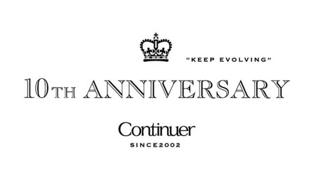<strong>Continuer|コンティニュエ</strong> 「Continuer 10th ANNIVERSARY FAIR」