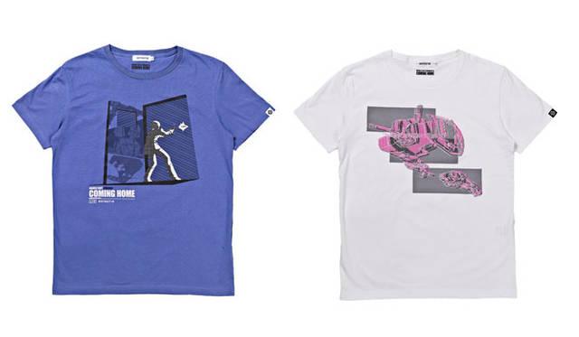 <strong>STRICT-G|ストリクト ジー</strong> 期間限定Tシャツ「第13 話/再会、母よ…」&「第14 話/時間よ、とまれ」 左/「Episode-13 アムロ発砲」、右/「Episode-13 空中換装」 各3990円 &#169;SOTSU・SUNRISE