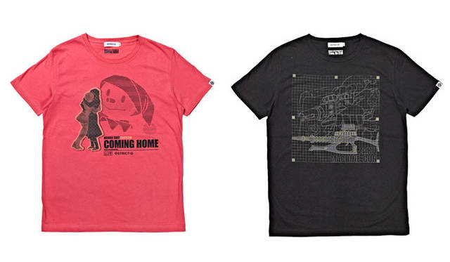 <strong>STRICT-G|ストリクト ジー</strong> 期間限定Tシャツ「第13 話/再会、母よ…」&「第14 話/時間よ、とまれ」 左/「Episode-13 再会、母よ」、右/「Episode-14 ザクマシンガン」 各3990円 &#169;SOTSU・SUNRISE
