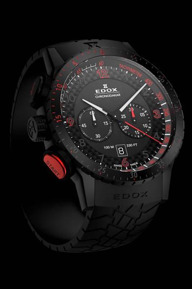 <strong>EDOX│エドックス</strong> <br /> 「エドックス クロノダカール リミテッドエディション」ケースサイズ45mm、防水100メートル、世界限定200本限定、価格22万500円