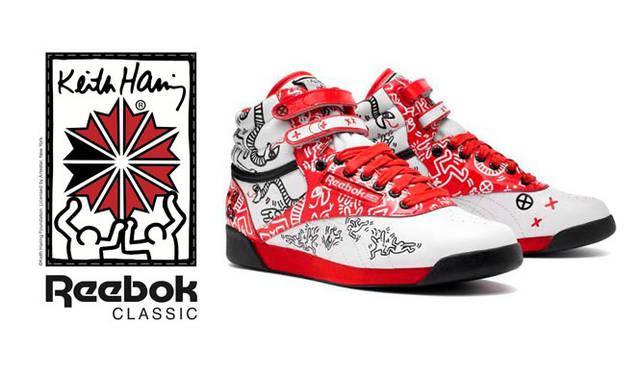 <strong>Reebok|リーボック</strong> 「リーボック クラシック×キース・ヘリングコレクション」 <ウィメンズ>Reebok Classic (リーボック クラシック)フリースタイルハイ INT R12 <Keith Haring (キース・へリング)モデル>1万2600円