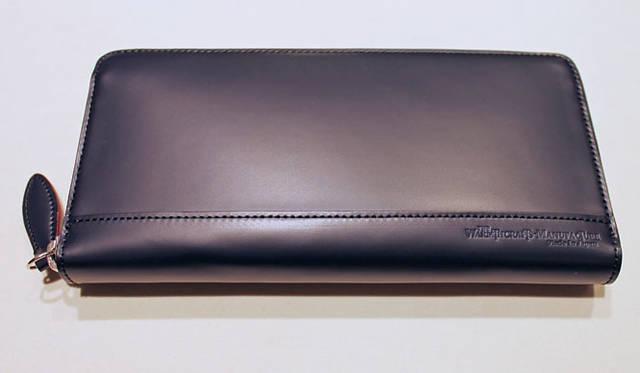 <strong>HANKYU MEN'S 阪急メンズ</strong> 阪急メンズ限定「ウォームスクラフツマニュファクチャー」コードバン財布 ネイビー4万8300円(限定数量)