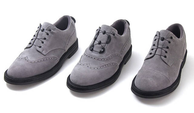 <strong>AUTHENTIC SHOE & Co.|オーセンティック・シュー&コー</strong> イノベーションシューズブランド「SPECTUSSHOECO.(スペクタス)」 左から、WING TIP BLUCHER、WING TIP BALMORAL、STRAIGHT TIP各4万4100円