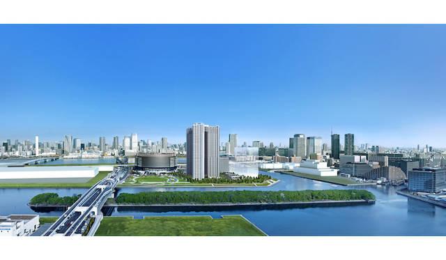 計画敷地内の緑地空間「万緑の杜」