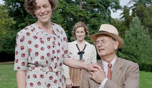 ルーズベルト大統領に扮したビル・マーレイ(右)と、一途に愛を貫くヒロイン、デイジーを演じたローラ・リニー ©2012 Focus Features LLC. All Rights Reserved.