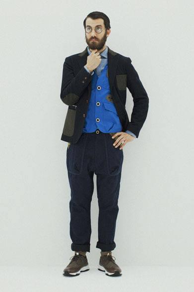 "<strong>so far|ソー ファー</strong> <a href=""/article/17469"" class=""link12lh15blue"">2013-14年秋冬コレクション</a> Melton Jacket 5万2500円、Nep Chambray Shirts 2万5200円、Inner Boa Vest 4万4100円、Back Satin Pants 2万5200円"