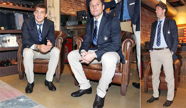 <strong>Sergio Rossi|セルジオ・ロッシ</strong> 左/マテオ・コヴァチッチ選手。右/ハビエル・サネッティ選手