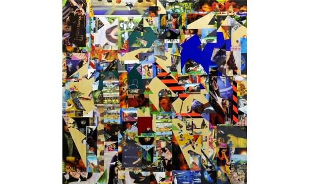 <strong>ART|『六本木クロッシング2013展:アウト・オブ・ダウト-来たるべき風景のために』</strong> 金氏徹平《Ghost in the Liquid Room (lenticular) #1》 2012年 レンチキュラー、反射シート、木 180×180 cm Courtesy: ShugoArts, Tokyo