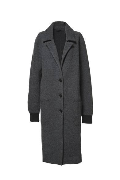 ALEXANDER WANG READY TO WEAR WOMEN'S<br />BEAVER BOILED WOOL KNIT COAT/ASPHALT 11万5500円(旗艦店の限定商品)