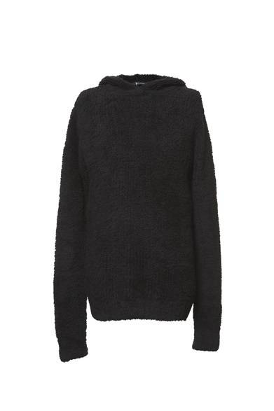 T by ALEXANDER WANG MEN'S<br />MEN'S WOOL BLEND HOODIE/BLACK 6万4050円(旗艦店の限定商品)