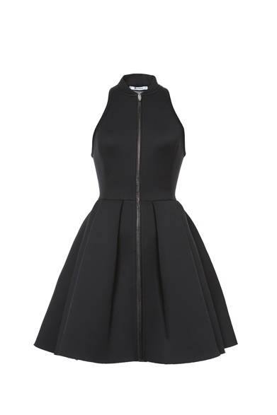T by ALEXANDER WANG WOMEN'S<br />NEOPLENE DRESS WITH LEATHER PLACEMENTS/BLACK 5万400円(旗艦店の限定商品)