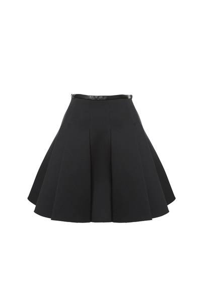 T by ALEXANDER WANG WOMEN'S<br />NEOPLENE SKIRT WITH LEATHER PLACEMENTS/BLACK 3万7800円(旗艦店の限定商品)