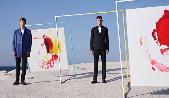 <strong>DIOR HOMME|ディオール オム</strong> M/M Parisとコラボレーションした2014年スプリングコレクションカタログより &#169;Karim Sadli
