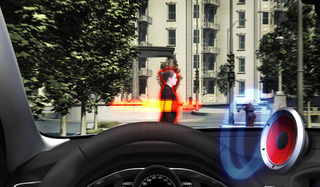 """衝突可能性のある歩行者を検知して自動ブレーキングを行う""""ヒューマンセーフティ"""""""