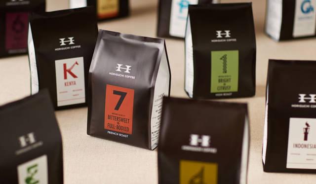 <strong>西澤明洋(EIGHT BRANDING DESIGN)</strong> HORIGUCHI COFFEE(2013~) 最高品質の生豆を取り扱い、焙煎やブレンドに対しても先進的かつ独自の取り組みをしているスペシャリティコーヒー専門店