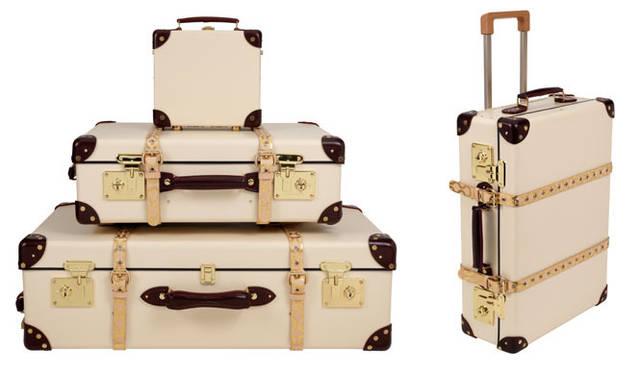 <strong>Vivienne Westwood|ヴィヴィアン・ウエストウッド</strong> 「Vivienne Westwood ♥'s」 <strong>Globe-Trotter(グローブ・トロッター)</strong>上から/ミニ・ユーティリティ・ケース12万6000円、トロリーケース23万1000円、キャスターケース29万4000円