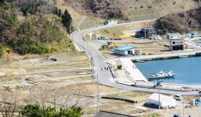 津波で住宅がほぼ無くなった鮪立地区。ここに防潮堤を作るかどうかを決断しなければならない