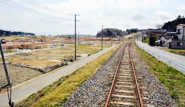 気仙沼の鹿折(ししおり)地区は被害が甚大だった場所。大船渡線の鹿折唐桑駅も撤去されてしまった