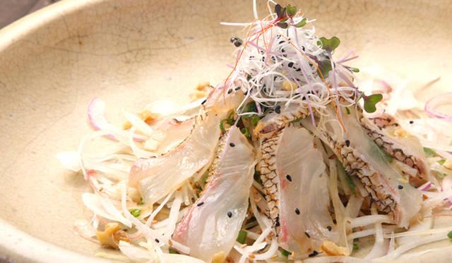 「真鯛の炙り・サラダ仕立て」