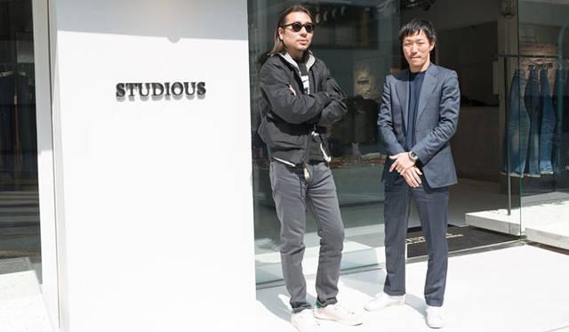 <strong>STUDIOUS|ステュディオス</strong> N.HOOLYWOOD 尾花大輔氏(写真左)、STUDIOUS代表取締役CEO 谷 正人氏