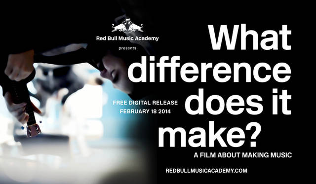 <strong>Red Bull Music Academy ドキュメンタリー・フィルム爆音上映会</strong><br /> 『What Difference Does It Make? A Film About Making Music』