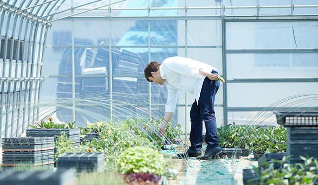 「須永農園」視察の様子