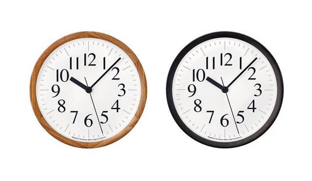 <strong>Lemnos|タカタレムノス</strong> 左/Clock B / ナチュラル(YK14-06 NT)、右/Clock B / ブラック(YK14-06 BK)