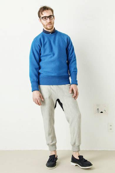 british wool reverse weave pullover 2万5920円、wool sweat pants 1万9440円