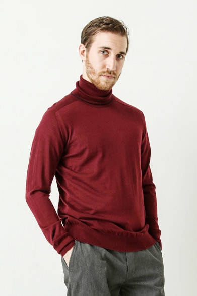 washable wool wholegarment turtle neck pullover 2万520円