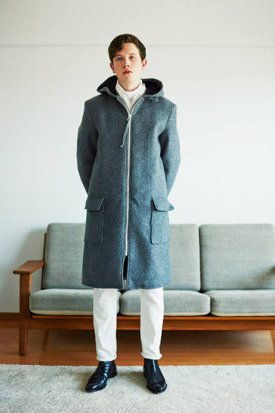 double face zip up hooded coat 7