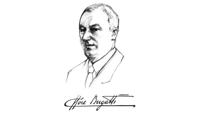 ブガッティ社の創業者、エットーレ・ブガッティ氏の肖像画
