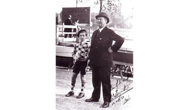 ブガッティ社の創業者、エットーレ・ブガッティ氏と、その息子であるローランド・ブガッティ氏