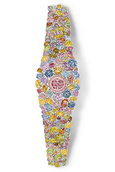 クォーツ、マルチカラーダイヤモンド、55億円<br /><br />  グラフ 東京サロン<br /> Tel. 03-6267-0811