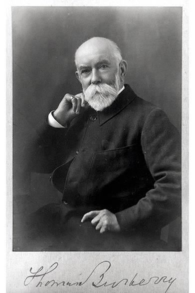 ギャバジンの開発者でもある、バーバリーを創設したトーマス・バーバリー