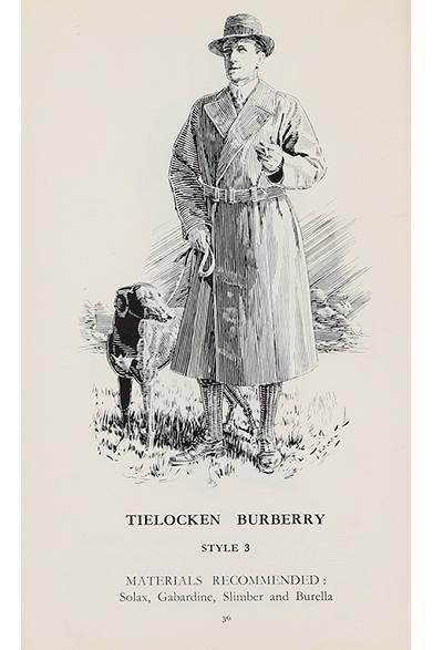 トレンチコートの前身にあたる「タイロッケン」を描いたイラスト
