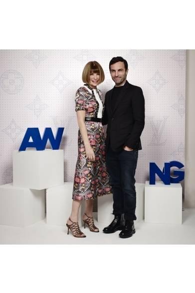 (左より)Anna Wintour & Nicolas Ghesquière アナ・ウィンター&ニコラ・ジェスキエール ©David Atlan/Louis Vuitton