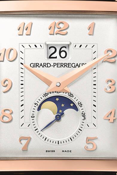 "<p class=""styE"">Holiday Gift Guide 2014</p> <p class=""styA"">メンズ|未来の自分へ特別な腕時計を贈ろう</p>  <p class=""styB"">GIRARD-PERREGAUX|ジラール・ペルゴ</p>  <p class=""styC"">伝統と独創性の角型モデル</p><br /> <p class=""styD"">文字盤は、とても立体的に作られている。<br /> <div align=""right""><a href=""/article/825655"" class=""link_underline"">→記事へ戻る</a> </div><br />  <strong>ヴィンテージ1945 XXL<br /> ラージデイト ムーンフェイズ</strong><br /> ケース|18Kピンクゴールド<br /> サイズ|縦36.1×横35.25mm<br /> ムーブメント|自動巻き<br /> パワーリザーブ|46時間<br /> 機能|ラージデイト(ビッグデイト)、ムーンフェイズ<br /> ストラップ|アリゲーター<br /> 防水性|3気圧<br /> 価格|290万円<br /><br />  ソーウインド ジャパン(ジラール・ペルゴ)<br /> Tel. 03-5211-1791<br /> http://www.girard-perregaux.com/"