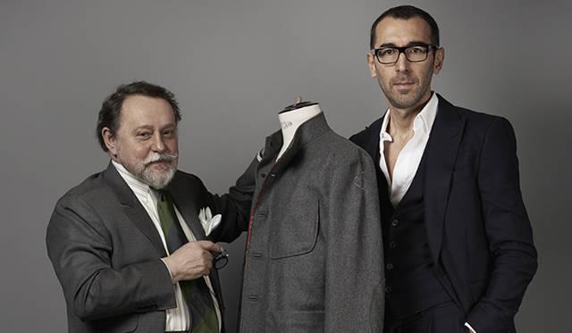 アルニス三代目当主ジャン・グランベール氏(写真左)とベルルッティ アーティスティック・ディレクター アレッサンドロ・サルトリ氏(写真左)