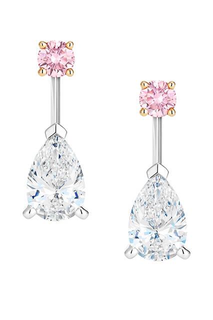 素材|ピンクダイヤモンド×ホワイトダイヤモンド<br>