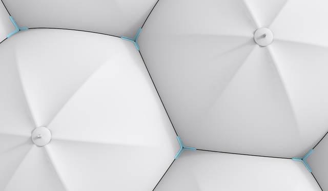 <strong>Hexagon</strong><br />マグネットを使って人々を繋ぎ、出会いをもたらす傘。