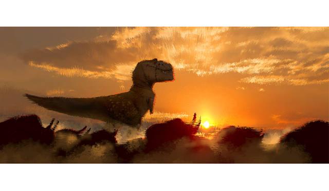 シャロン・キャラハン ≪カラースクリプト≫ 『アーロと少年』(2015年) デジタルペインティング ©Disney/Pixar