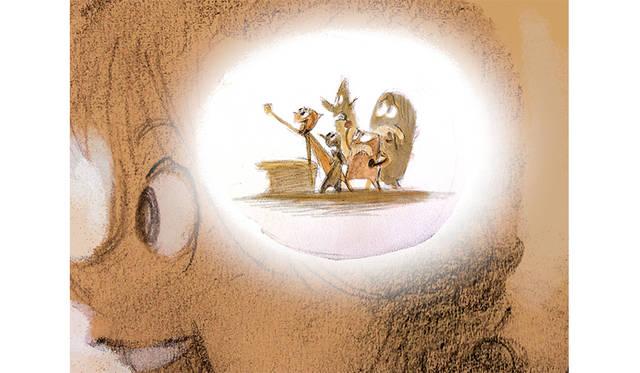 ロニー・デル・カルメン ≪ライリーと感情たち≫ 『インサイド・ヘッド』(2015年) デジタルペインティング(原画〔鉛筆/紙〕をスキャニング)  ©Disney/Pixar